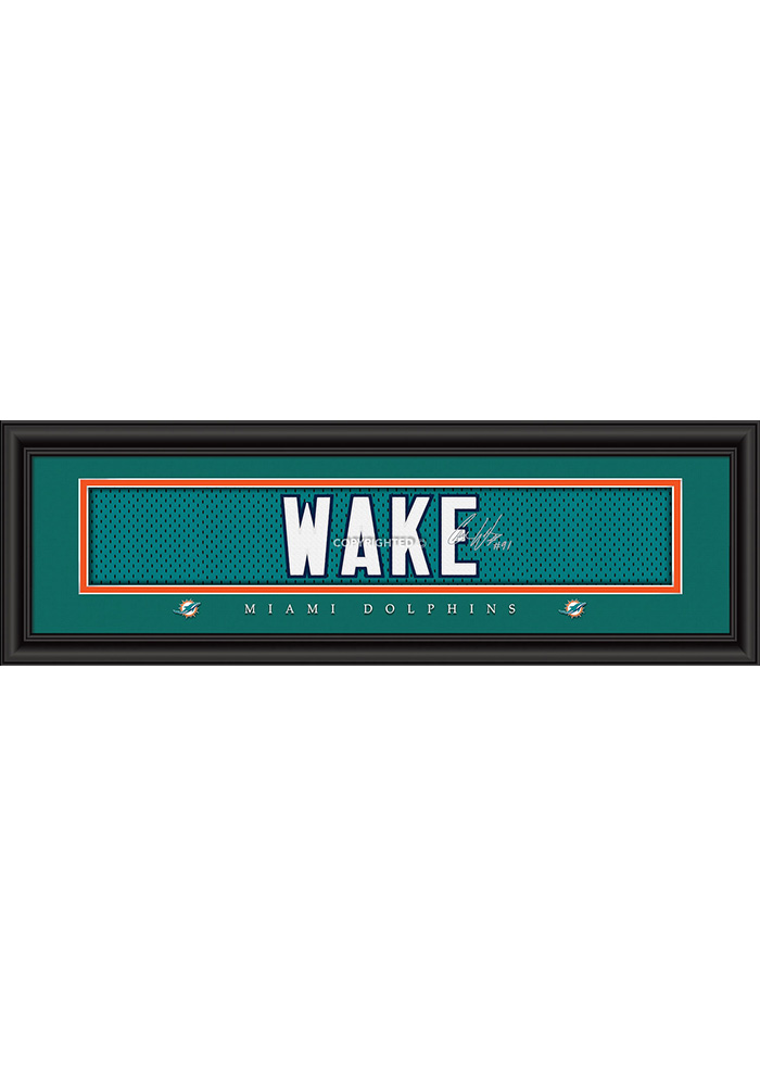 Cameron Wake Miami Dolphins 8x24 Signature Framed Posters - Image 1