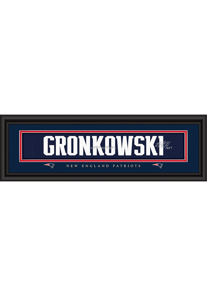 Rob Gronkowski New England Patriots 8x24 Signature Framed Posters - Image 1