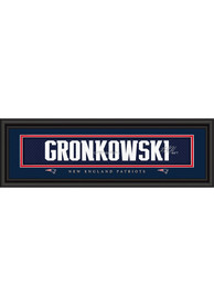 Rob Gronkowski New England Patriots 8x24 Signature Framed Posters