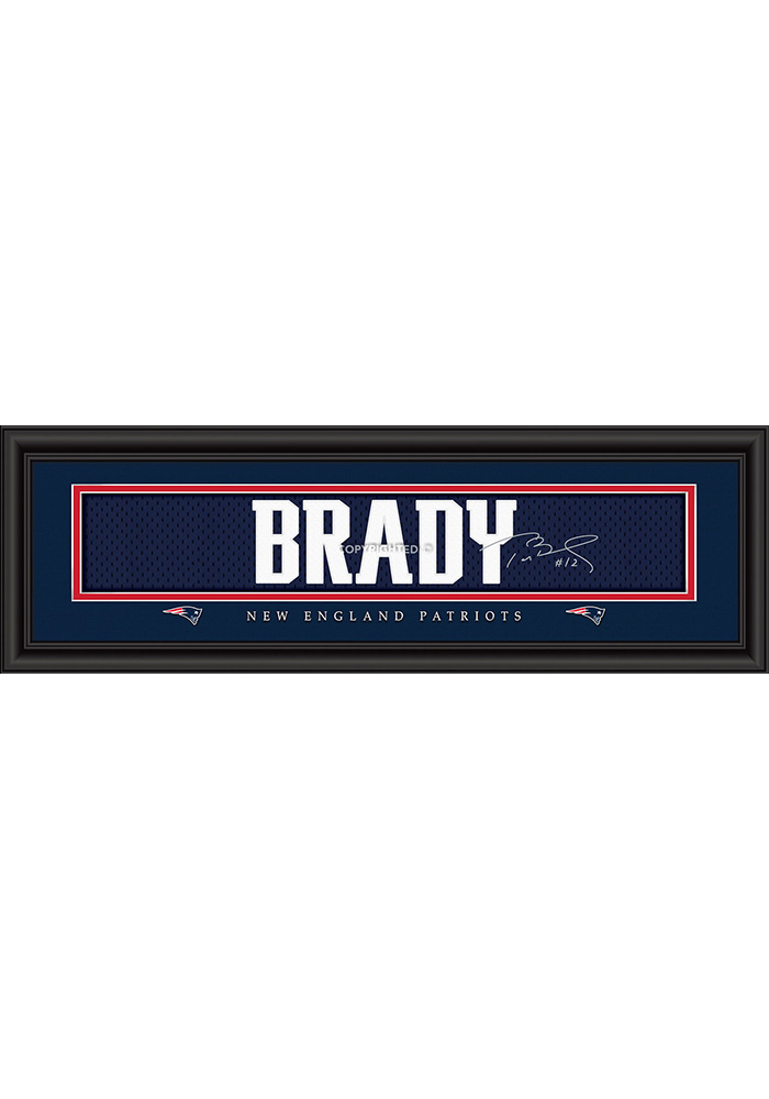 Tom Brady New England Patriots 8x24 Signature Framed Posters - Image 1