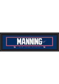 Eli Manning New York Giants 8x24 Signature Framed Posters