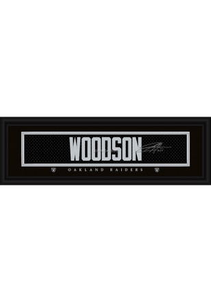 Charles Woodson Oakland Raiders 8x24 Signature Framed Posters
