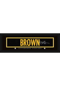 Antonio Brown Pittsburgh Steelers 8x24 Signature Framed Posters