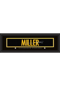 Heath Miller Pittsburgh Steelers 8x24 Signature Framed Posters
