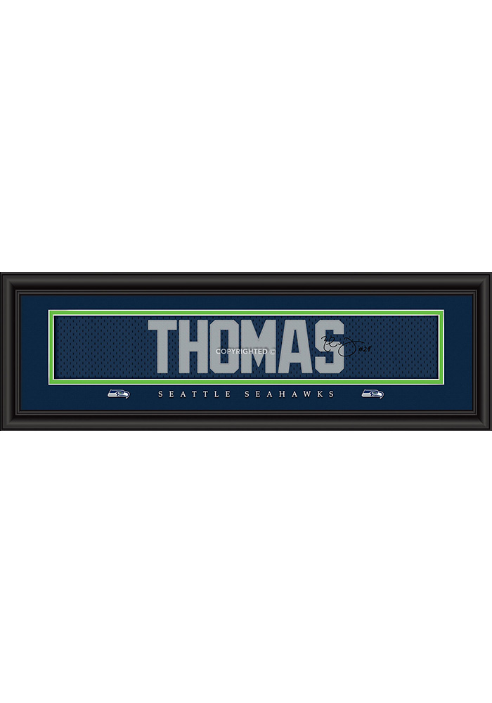 Earl Thomas Seattle Seahawks 8x24 Signature Framed Posters - Image 1