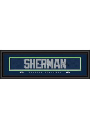 Richard Sherman Seattle Seahawks 8x24 Signature Framed Posters