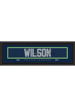 Russell Wilson Seattle Seahawks 8x24 Signature Framed Posters
