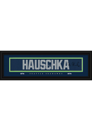 Steven Hauschka Seattle Seahawks 8x24 Signature Framed Posters