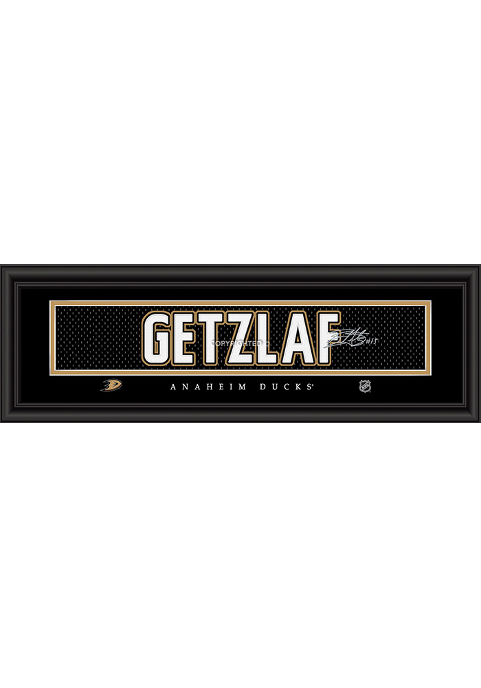Ryan Getzlaf Anaheim Ducks 8x24 Signature Framed Posters - Image 1