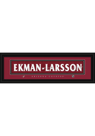 Oliver Ekman-Larsson Arizona Coyotes 8x24 Signature Framed Posters