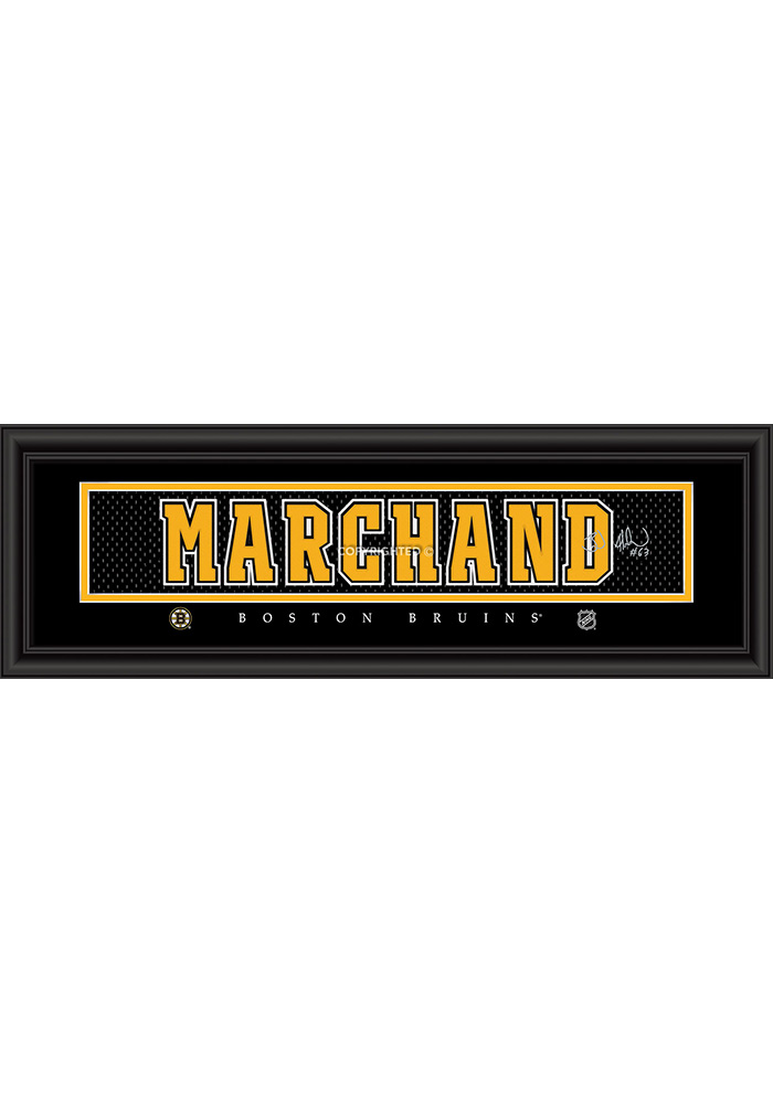 Brad Marchand Boston Bruins 8x24 Signature Framed Posters - Image 1