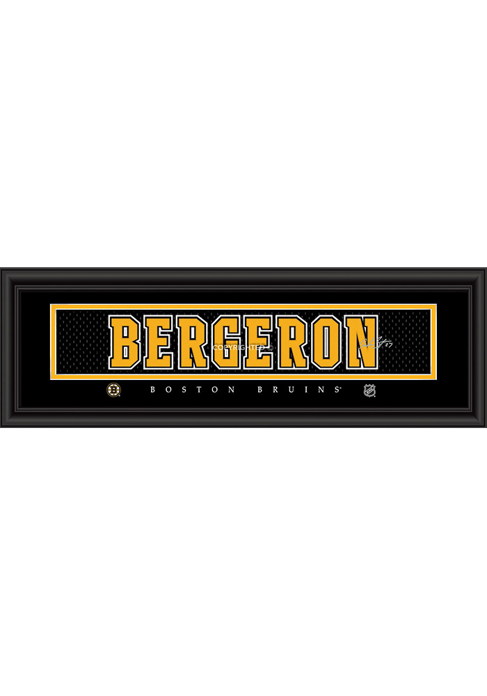 Patrice Bergeron Boston Bruins 8x24 Signature Framed Posters