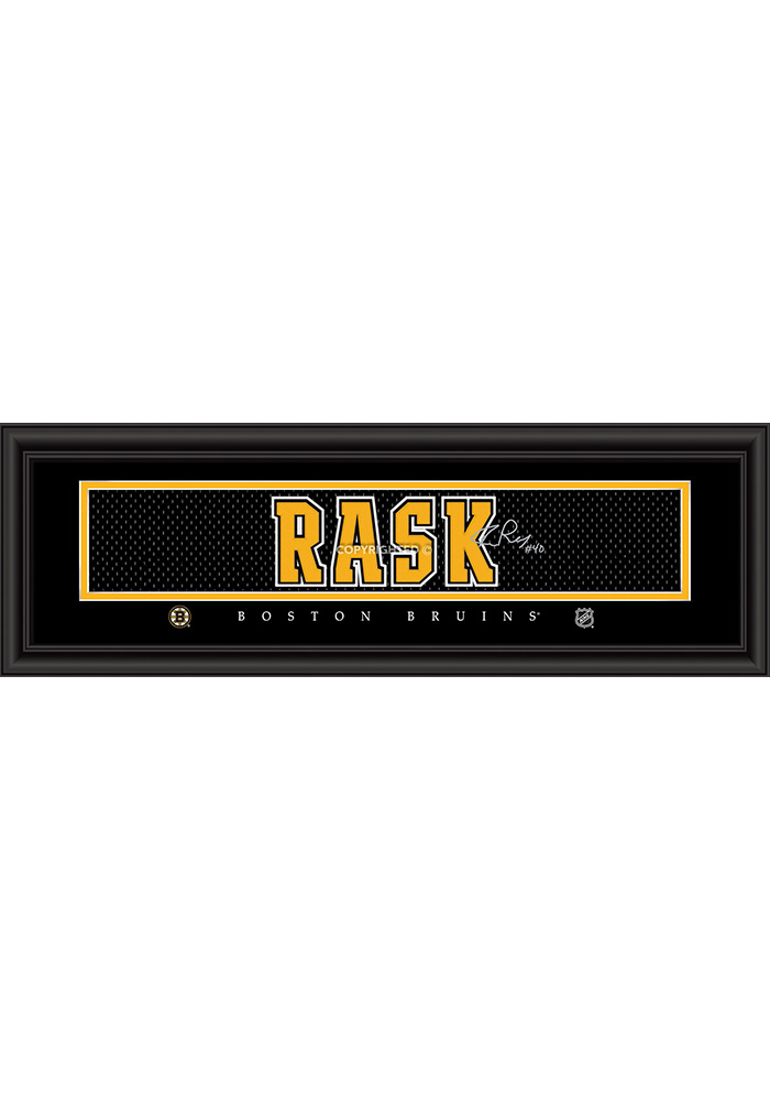 Tuukka Rask Boston Bruins 8x24 Signature Framed Posters - Image 1