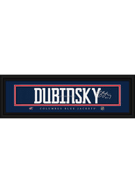 Brandon Dubinsky Columbus Blue Jackets 8x24 Signature Framed Posters