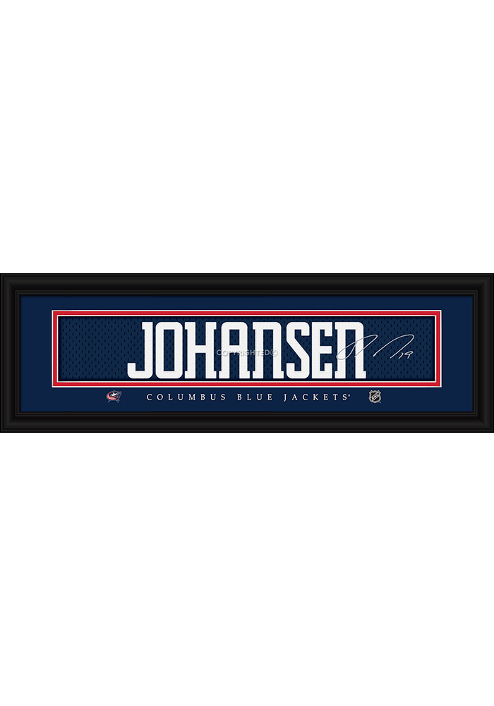 Ryan Johansen Columbus Blue Jackets 8x24 Signature Framed Posters - Image 1