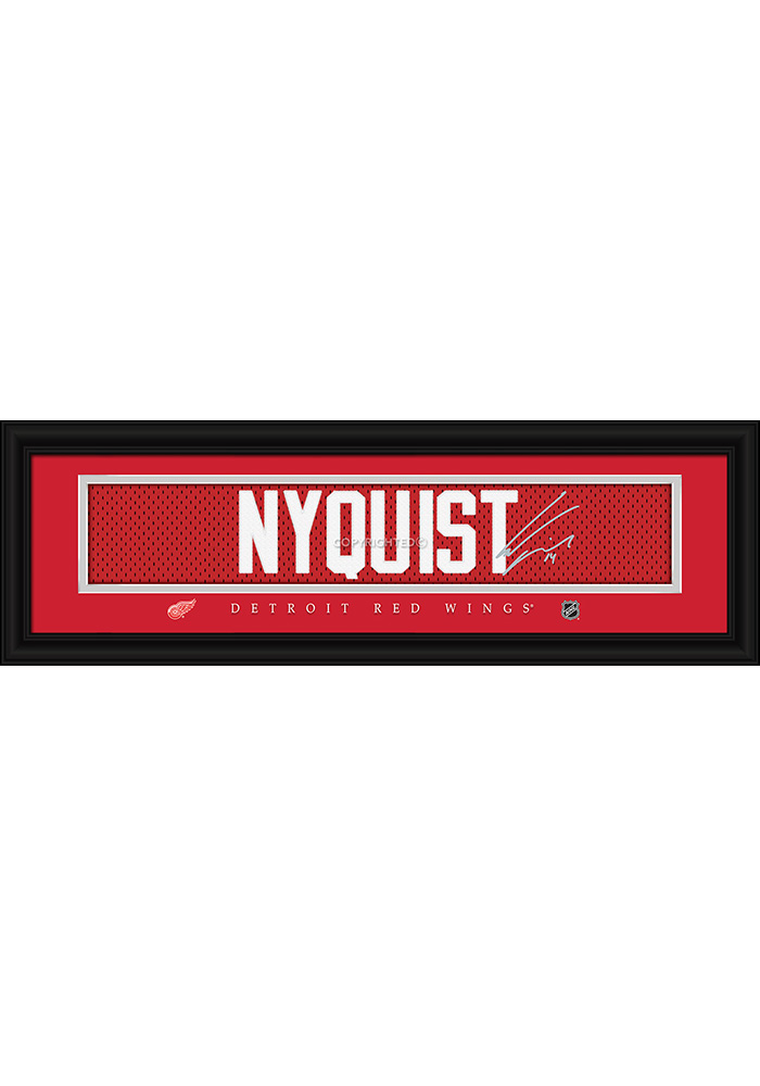 Gustav Nyquist Detroit Red Wings 8x24 Signature Framed Posters - Image 1