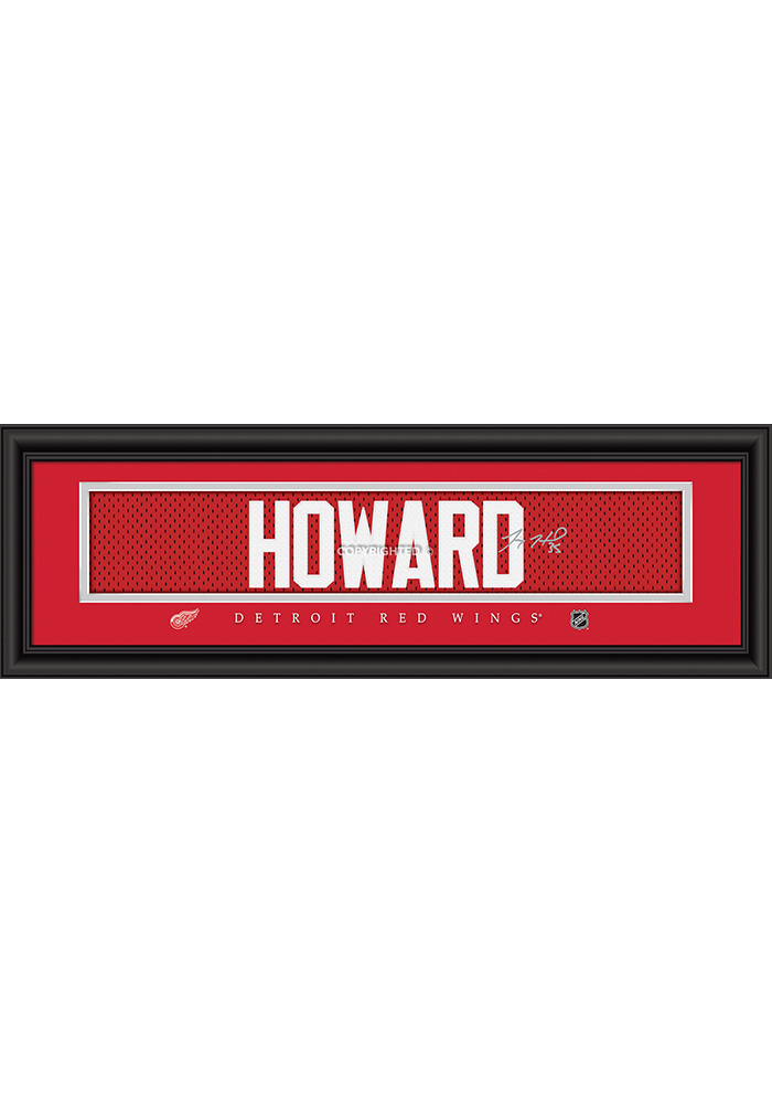 Jimmy Howard Detroit Red Wings 8x24 Signature Framed Posters - Image 1