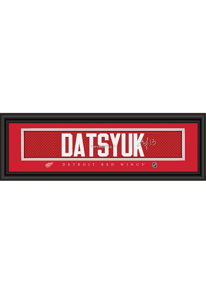 Pavel Datsyuk Detroit Red Wings 8x24 Signature Framed Posters - Image 1