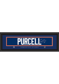 Teddy Purcell Edmonton Oilers 8x24 Signature Framed Posters
