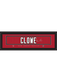 Ryane Clowe New Jersey Devils 8x24 Signature Framed Posters