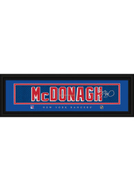 Ryan McDonagh New York Rangers 8x24 Signature Framed Posters