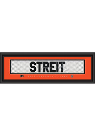 Mark Streit Philadelphia Flyers 8x24 Signature Framed Posters