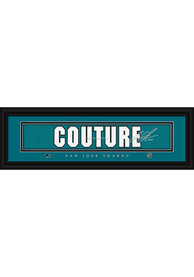 Logan Couture San Jose Sharks 8x24 Signature Framed Posters