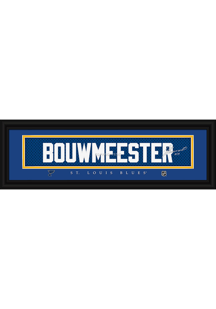 Jay Bouwmeester St Louis Blues 8x24 Signature Framed Posters - Image 1