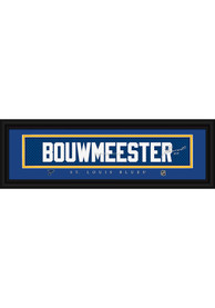 Jay Bouwmeester St Louis Blues 8x24 Signature Framed Posters