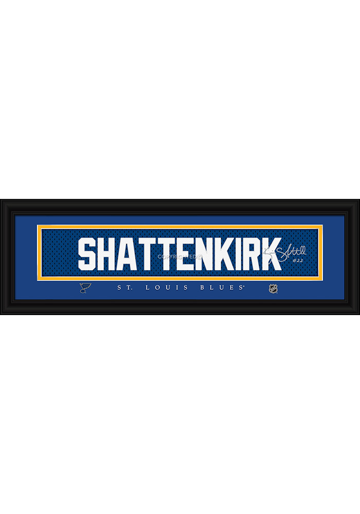Kevin Shattenkirk St Louis Blues 8x24 Signature Framed Posters - Image 1