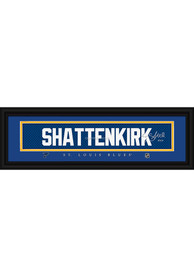Kevin Shattenkirk St Louis Blues 8x24 Signature Framed Posters