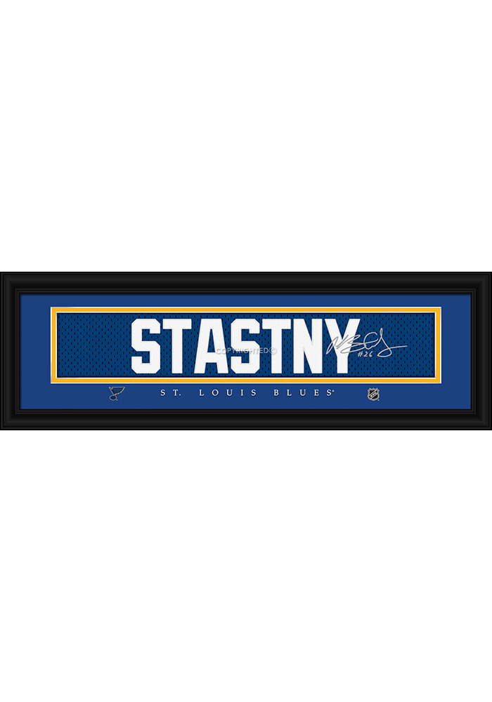 Paul Stastny St Louis Blues 8x24 Signature Framed Posters - Image 1
