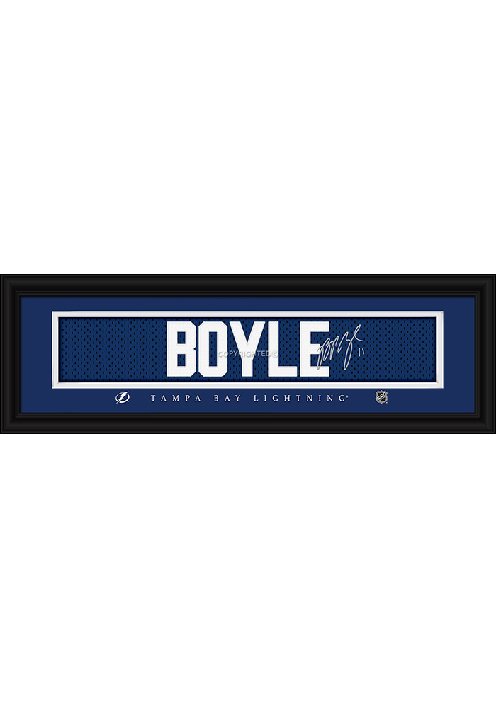 Brian Boyle Tampa Bay Lightning 8x24 Signature Framed Posters - 6541491