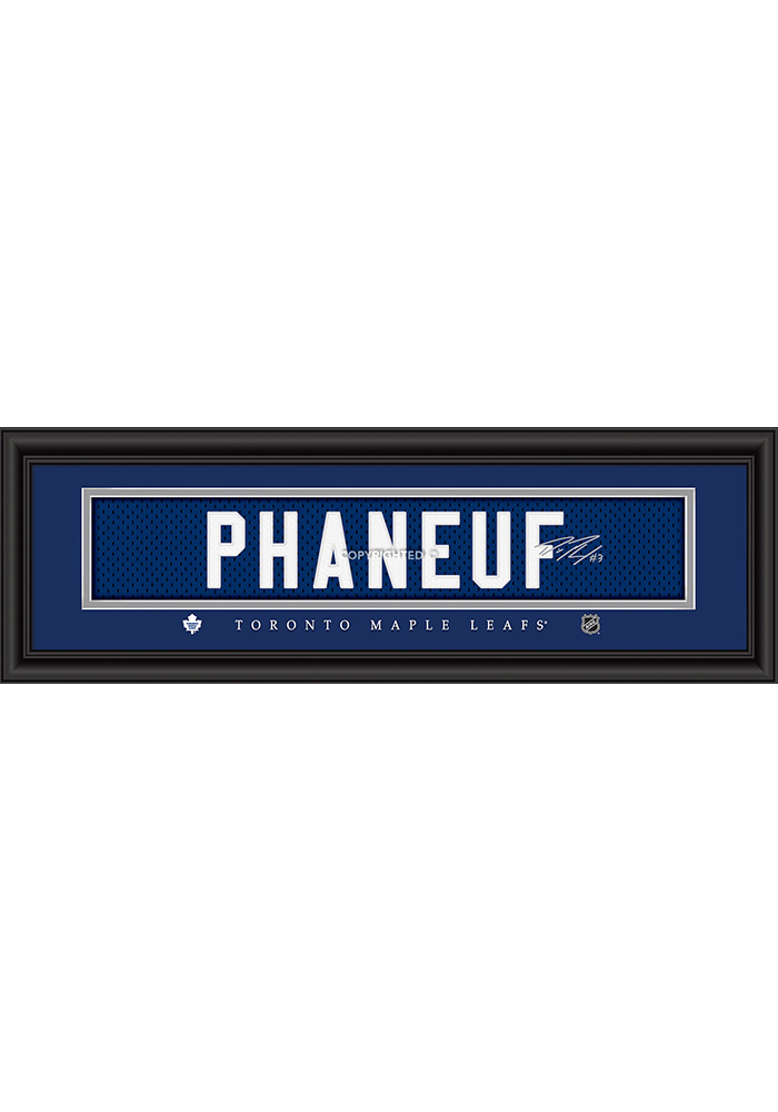 Dion Phaneuf Toronto Maple Leafs 8x24 Signature Framed Posters - Image 1