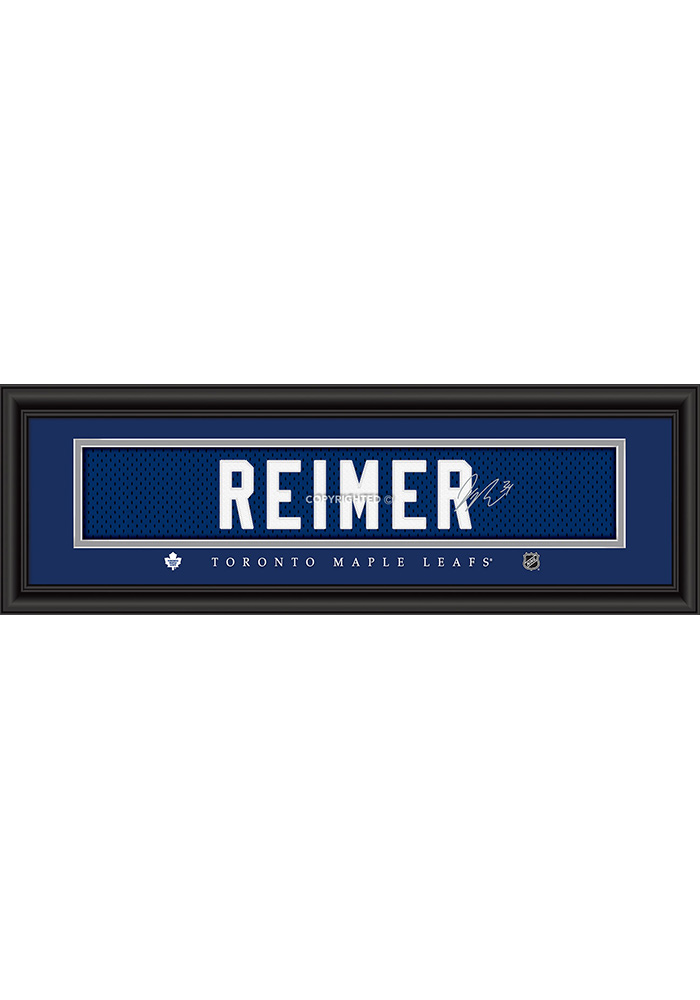 James Reimer Toronto Maple Leafs 8x24 Signature Framed Posters - Image 1