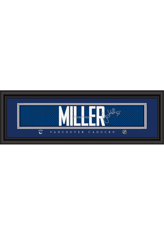 Ryan Miller Vancouver Canucks 8x24 Signature Framed Posters - Image 1