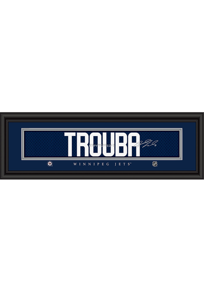 Jacob Trouba Winnipeg Jets 8x24 Signature Framed Posters - Image 1