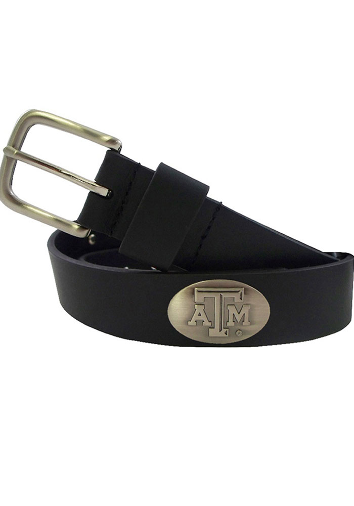 Texas A&M Aggies Black Leather Mens Belt 6543105