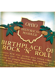 Cleveland Birthplace of Rock N Roll Stone Tile Coaster