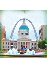 St Louis Old Courthouse Arch Stone Tile Coaster