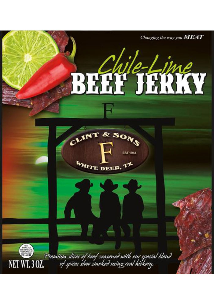 Dallas Ft Worth 3oz Chili Lime Beef Jerky Snack - Image 1