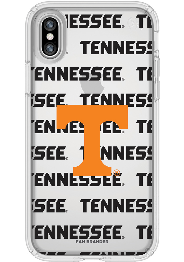 Tennessee Volunteers iPhone X Speck Presidio Clear Phone Cover - Image 1