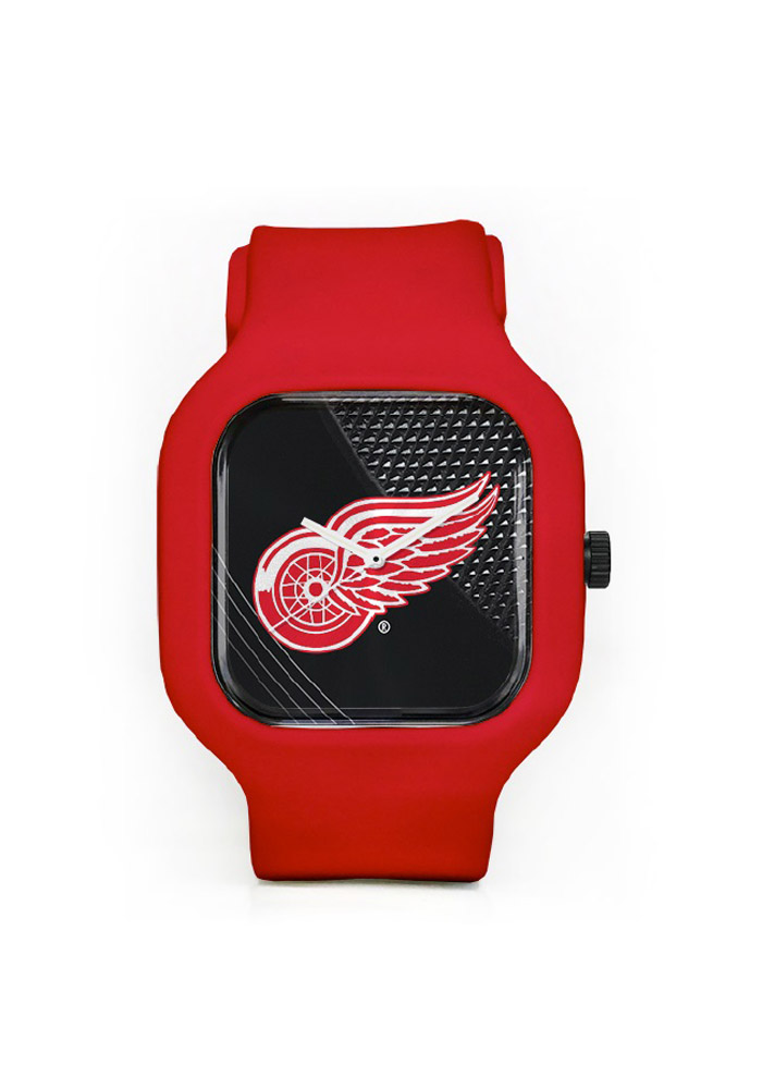 Detroit Red Wings Team Logo Watch - Red