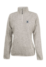 Xavier Musketeers Womens Fleece Oatmeal 1/4 Zip Pullover