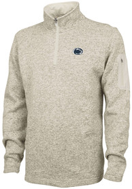 Penn State Nittany Lions Heathered 1/4 Zip Pullover - Oatmeal