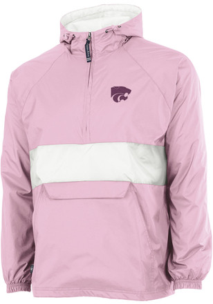 K-State Wildcats Womens Pink Classic Stripe Light Weight Jacket