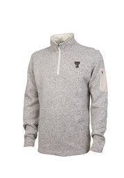 Texas Tech Mens Brown Heathered 1/4 Zip Pullover