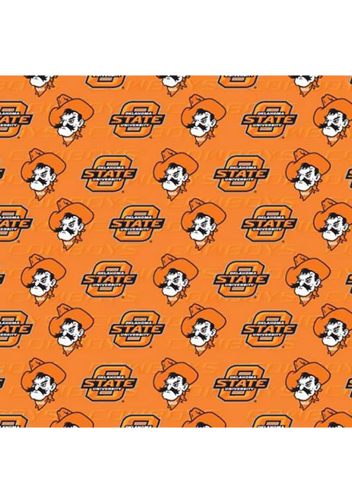 Oklahoma State Cowboys Orange Mascot Wrapping Paper - Image 1