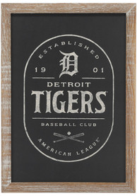 Detroit Tigers Framed Black and White Wall Wall Art