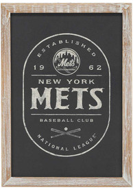 New York Mets Framed Black and White Wall Wall Art